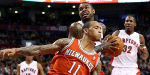 Not even one of Amir Johnson's best games of the season could stop Monta Ellis and the Bucks from taking the wind out of the Raptors sails at the ACC on Sunday.